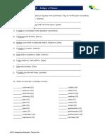 Português para Estrangeiros - Lição 10 - Exercício 06 - Artigos e Gênero