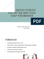 Adaptasi Psikologi Bayi & Anak