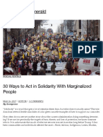 30 Ways to Act in Solidarity With Marginalized People | South Seattle Emerald