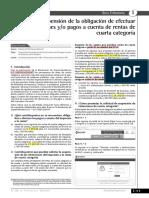 Suspension de Obligacion de Efectuar Retenciones o Pac de 4ta Categoria