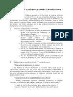 Notas al Artículo 27 del Proyecto de Nuevo Código de Niños y Adolescentes.doc