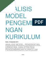 Analisis Model Pengembangan Kurikulum