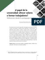 Cuál es el papel de La Universidad