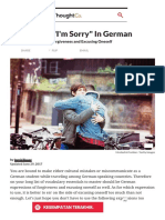 How to Apologize and Say _I'm Sorry_ in German