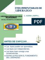 Diapositiva 21 LEYES  LIDERAZGO