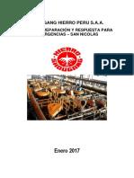 Plan de Preparacion y Respuesta Para Emergencias San Nicolas 2017