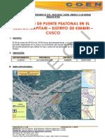 USCO - La Convención - Kimbiri - ( Irapitari)- Colapso Puente