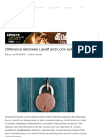 Difference Between Layoff and Lock-out (With Similarities and Comparison Chart) - Key Differences
