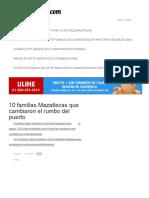 10 Familias Mazatlecas Que Cambiaron El Rumbo Del Puerto
