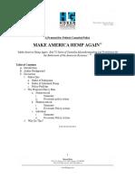 Make America Hemp Again -- A Proposal for Federal Cannabis Policy