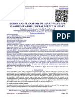 DESIGN AND FE ANALYSIS OF HEART VALVE FOR CLOSURE OF ATRIAL SEPTAL DEFECT IN HEART