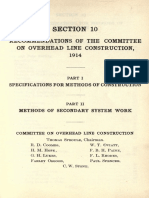 Recomemmendations of the Committee on Overhead Line Construction