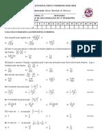 8º série - Avaliação objetiva noturno de Matemática 2017