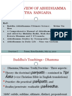 Overview of Abhidhamma