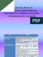 Analisis Del Nivel de Inseguridad Alimentaria en Continentes