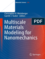(Springer Series in Materials Science 245) Christopher R. Weinberger, Garritt J. Tucker (Eds.)-Multiscale Materials Modeling for Nanomechanics-Springer International Publishing (2016)