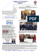 Knights of Columbus - January 2018 Newsletter