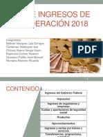 Ley de Ingresos Federales 2018-2