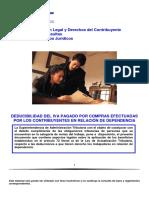 Deducibilidad IVA Pagado Por Compras Efecturadas Por Los Contrib en Rel de Dependencia