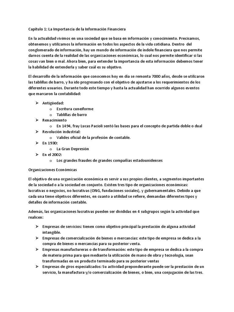 Cual Es El Objetivo De La Informacion Financiera En Los Negocios ...
