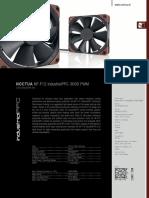 Noctua Nf f12 IndustrialPCC 3000 Pwm Datasheet En