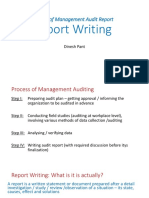 Mgmt Audit Report Writing