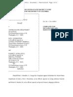 1 3 18 Manafort v DOJ Complaint