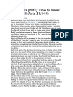 New Years [2013]- How to Know God's Will (Acts 21-1-14)