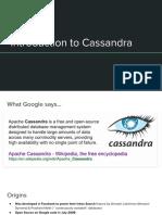 2. Cassandra Intro