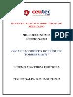 OscarRodriguez 31121727 Tarea-10 Tipos de Mercado