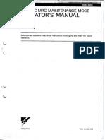 MRC Maintenance Manual
