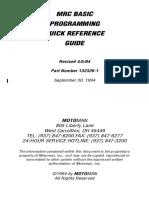 MRC Programming Quick Reference