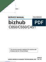 SERVICE MANUAL Bizhub C650/C550/C451