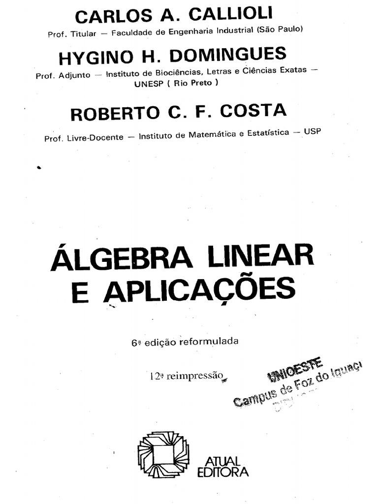 Algebra Linear Callioli Pdf