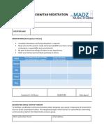 Registration Form Madziawitan