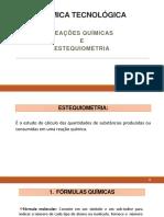 Quitec - Aula 5 - Química Tecnológica - Estequiometria