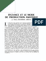 Hélène Antoniadis-Bibicou, Byzance et le mode du production asiatique