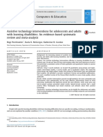Assistive technology interventions for adolescents and adults with learning disabilities