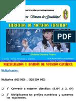 Ejercicios de Multiplicacion y Division de Notacion Cientifica