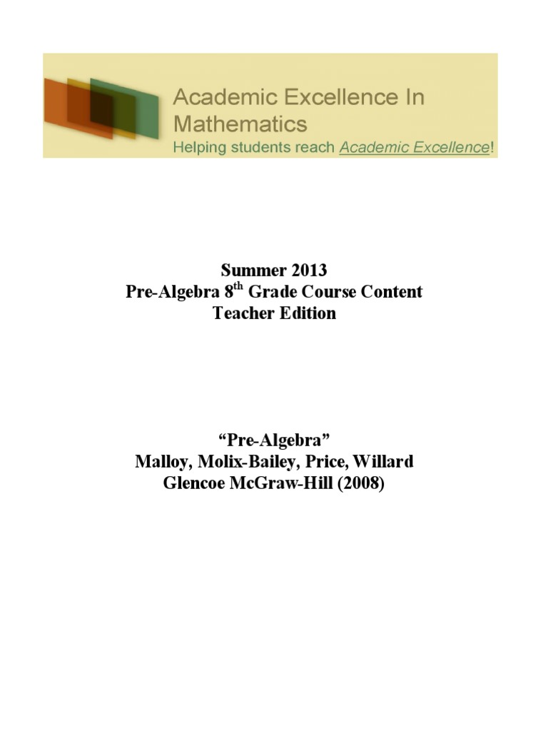 Pre Algebra Textbook Fraction Mathematics Teaching Mathematics [ 1024 x 768 Pixel ]