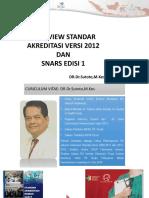Overview Standar Akreditasi Snars Ed1
