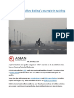 Delhi should follow Beijing's example in tackling air pollution.docx