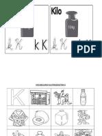 Vocabulario Ilustradoletra k