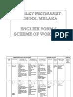 Scheme of Work English Form 5 2018