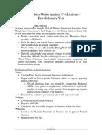 APUSH Study Guide Ancient Civilizations—Revolutionary War