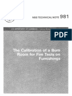 1978 NBS TN981 Calibration of a Burn Room
