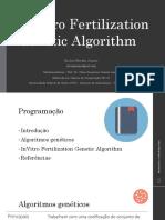 InVitro Fertilization Genetic Algorithm