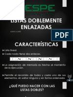 LISTAS DOBLEMENTE ENLAZADAS