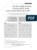 Factors Associated With Overweight and Obesity in Mexican School Age Children