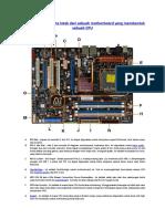 Mengindentifikasi Tata Letak Dari Sebuah Motherboard Yang Membentuk Sebuah CPU